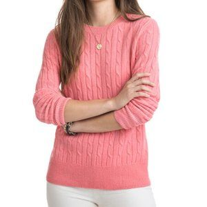 Vineyard Vines Coral Cable Knit Sweater Size Small